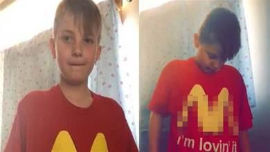 天兵媽媽讓兒子穿「麥當勞T-shirt」去上學,晚上一看嚇傻道歉:我對不起整間學校
