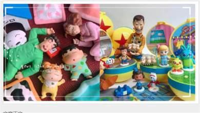 4款扭蛋開箱!蠟筆小新慵懶睡覺、玩具總動員場景組和超療癒杯中生物!| 打翻玩具箱