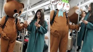 捷運上「流氓熊」調戲正妹,正妹抬手就是一巴掌,下一秒一車人全笑噴