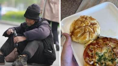 街友路邊喊餓!網友「決定買麵包助他」還多給50元 離開前「回頭多看一眼」愣了:好心被雷親