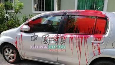 華裔女疑欠債惹怒阿窿 10無辜車遭潑紅漆