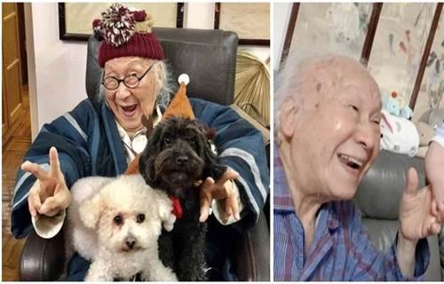 恭喜!俞明又當太姥爺!96歲四世同堂 一家人同框 表情豐富 網友:每張照片都笑得很開心 要長壽!