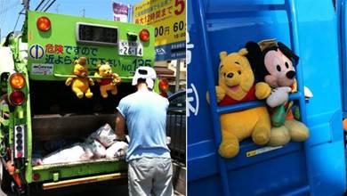 為什麼日本垃圾車上「總掛著一堆娃娃」?清潔員工暖心回答:原來台灣也看得到