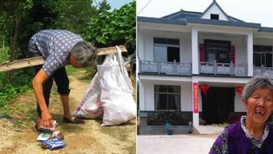 74歲老人25年前撿回女嬰,靠撿廢品將其養大,25年後養女為她建別墅:她養我小,我養她老