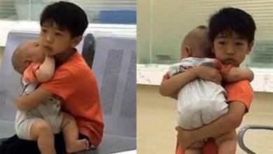 7歲哥哥抱著弟弟看病的[偷.拍]照火了,網友:這就是我生二胎的原因