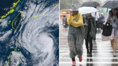 閃電颱風加速狂奔!氣象局宣佈:「最快傍晚發陸警」 明豪大雨強灌「風雨最強區域」出爐