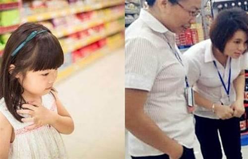 5歲女孩逛完超市衣服很鼓,店員懷疑其偷竊,解開後淚留滿面