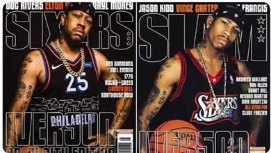 青春回來了!Iverson身披76人新球衣,復刻00年經典雜誌封面!