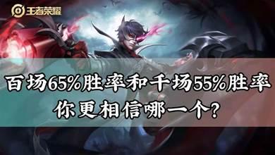 王者榮耀:百場65%勝率和千場55%勝率,你更相信哪一個?