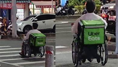 不向命運低頭!半癱外送員「靠輪椅送餐」上工背影惹鼻酸 同行揭「超敬業態度」感動:生命鬥士
